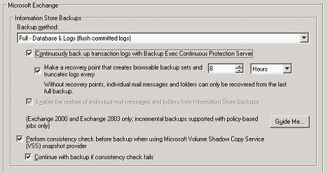 配置BE11d和CPS以实现Exchange的联系保护